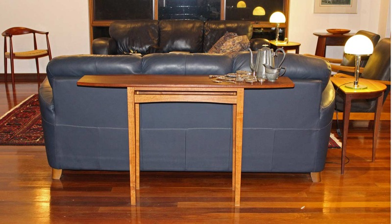 Theexisting sofa table . .