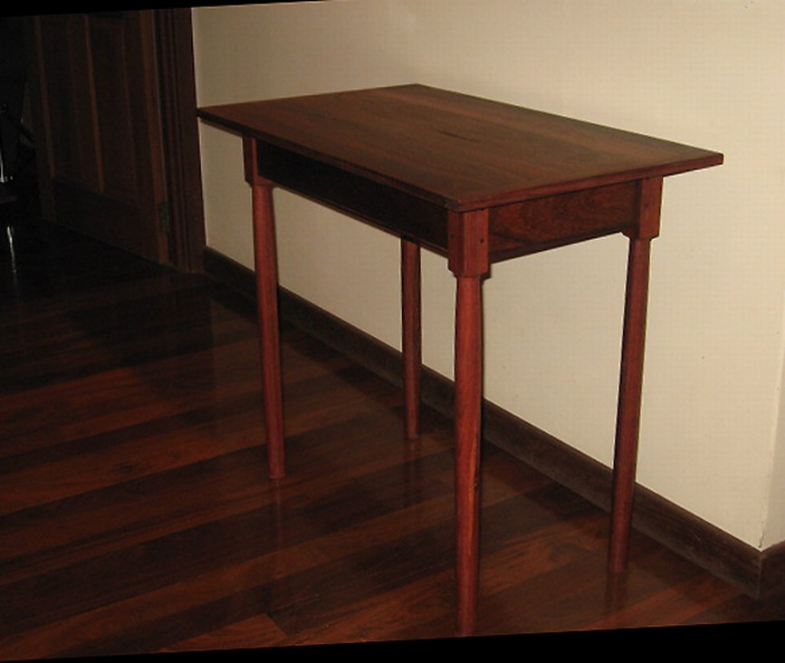 Jarrah Kingsize Bed And One Of A Pair Of Side Tables